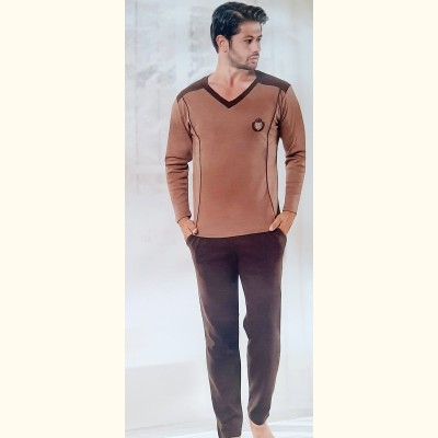 Мужская пижама, трикотажный костюм Ercan Interlok (14009)